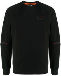 EA7 クルーネック スウェットシャツ - ブラック