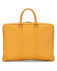 Louis Vuitton Maletín Porte Documents Voyage 2013 - Naranja