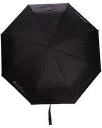 Richard Quinn Regenschirm mit Logo-Print - Schwarz