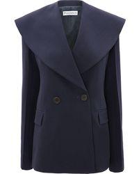 JW Anderson Shawl Lapel Tailored Jacket - Blue
