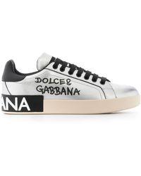Dolce & Gabbana Кеды С Эффектом Металлик