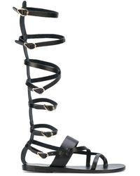 Ancient Greek Sandals Sandalias planas Alethea High - Negro
