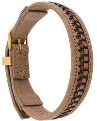 Northskull Bracelet tressé - Marron