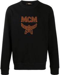 MCM フロックロゴ スウェットシャツ - ブラック