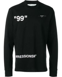 Off-White c/o Virgil Abloh Graphic Print Sweatshirt - Black