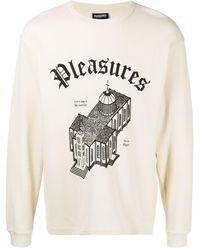Pleasures ロゴ スウェットシャツ - ホワイト