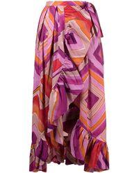 Gianluca Capannolo Colour-block Asymmetric Skirt - Pink