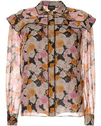 Giambattista Valli Floral Print Blouse - Multicolour