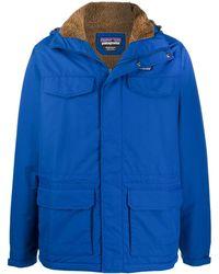 Patagonia Logo Duffle Coat - Blue