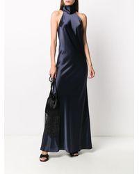 Galvan London Атласное Платье Sienna - Синий