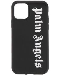 Palm Angels Logo-print Silicone Iphone 11 Pro Max Case - Black