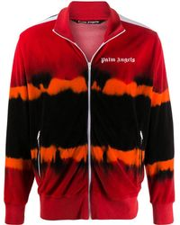 Palm Angels Tie Dye Chenille Track Jkt - Red