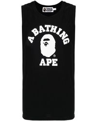 A Bathing Ape ロゴ タンクトップ - ブラック