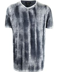 Avant Toi T-shirt à effet texturé - Bleu