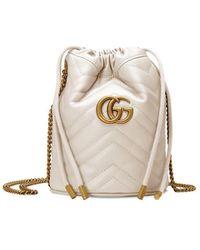 Gucci - GG Marmont Bucket Tas - Lyst