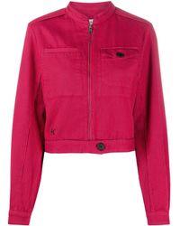 KENZO Cropped Denim Jacket - Pink