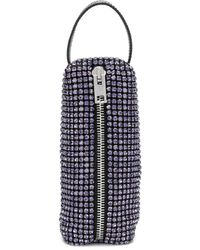 Alexander Wang Rhinestone Pencil Case - Purple