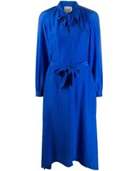 Forte Forte タイウエスト ドレス - ブルー