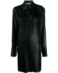 T By Alexander Wang オーバーサイズ シャツドレス - ブラック