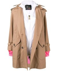 Bazar Deluxe - Hooded Trench Coat With Interior Gilet - Lyst
