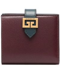 Givenchy Gv3 Leather Wallet - Red