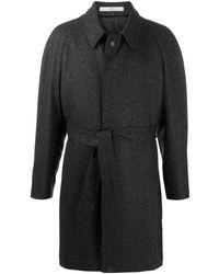 Corneliani ベルテッド コート - ブラック