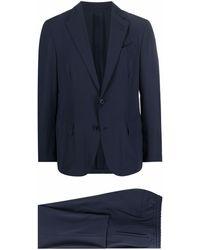 Lardini シングルスーツ - ブルー