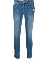 Liu Jo Tief sitzende Skinny-Jeans - Blau