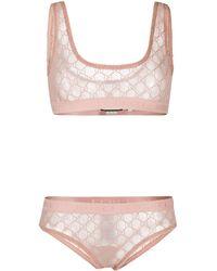Gucci GGパターン ランジェリー セット - ピンク