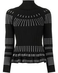 Antonino Valenti Contrast Stitch Knitted Top - Black
