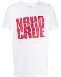 Neighborhood ロゴ Tシャツ - ホワイト
