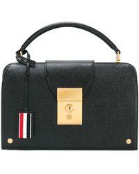 Thom Browne Mrs. Thom Lucido Leather Pocketbook - Black