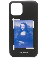 Off-White c/o Virgil Abloh Funda Mona Lisa para iPhone Pro Max - Negro