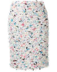 Coohem Spring Paint Tweed Skirt - White