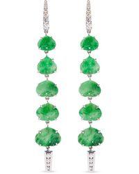 Annoushka - Boucles d'oreilles pendantes en or blanc 18ct ornées de diamants - Lyst