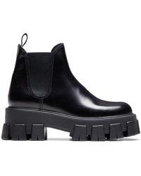 Prada - Slip-on chunky boots - Lyst
