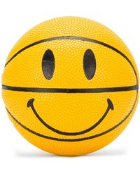 Chinatown Market Smiley Face Basket Ball - Yellow