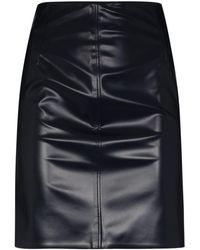 Kwaidan Editions Minifalda de piel artificial - Azul