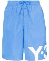 Y-3 Logo Swim Shorts - Синий