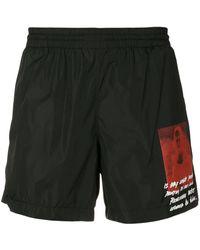 Off-White c/o Virgil Abloh Mona Lisa Swim Shorts - Black