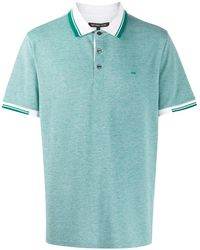 Michael Kors Striped Trim Polo Shirt - Green