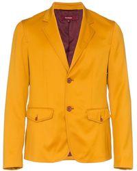 Sies Marjan Boden Twill Single-breasted Blazer - Yellow