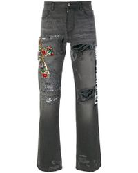 Faith Connexion - Floral Embroidered Jeans - Lyst