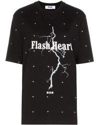 MSGM - ビジュー Tシャツ - Lyst