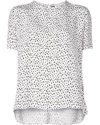 Adam Lippes プリント Tシャツ - ホワイト