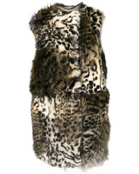 Stella McCartney Faux Fur Sleeveless Coat - Коричневый