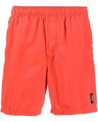 Stone Island Плавки-шорты С Нашивкой-логотипом - Оранжевый