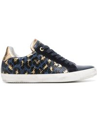 Zadig & Voltaire Leopard-print Trainers - Blue