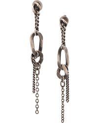 Werkstatt:münchen Chain Charm Earring - Metallic
