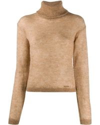 DSquared² Wool Roll-neck Jumper - Brown